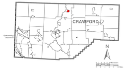 Location of Cambridge Springs in Crawford County
