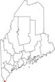 Map of Maine highlighting Kittery.png