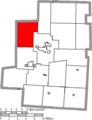 Map of Morrow County Ohio Highlighting Canaan Township.png