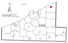 Map of Northeast, Erie County, Pennsylvania Highlighted.png