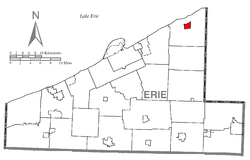 Location of North East in Erie County