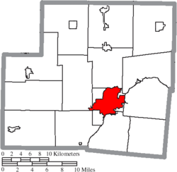 Location of Sidney in Shelby County