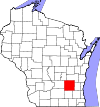 State map highlighting Dodge County