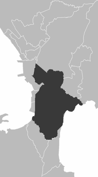 Namayan - Map of today's Metro Manila, showing the modern boundaries of cities and municipalities which were once said to be under the rule of Namayan.