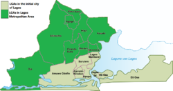 Map of Lagos Metropolis