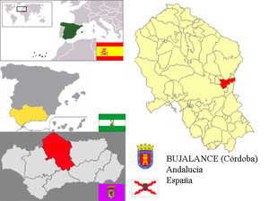 Bujalance - Image: Mapa Bujalance