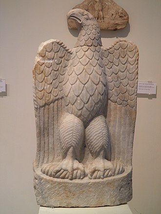 Zeus - Marble eagle from the sanctuary of Zeus Hypsistos, Archaeological Museum of Dion.