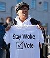 Marcia Fudge with Stay Woke Vote t-shirt in 2018.jpg