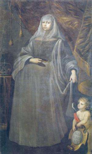 Maria Francisca of Savoy - Portrait by António de Oliveira e Louredo, 1704