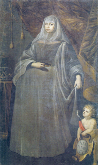 Maria Francisca of Savoy - Portrait by António de Oliveira de Louredo; 1703, National Museum of Ancient Art.