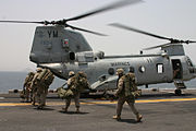 Marines CH-46 Helicopter