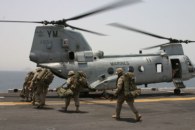 File:Marines CH-46 Helicopter.jpg