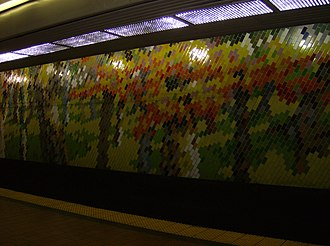 Jefferson Station (SEPTA) - Image: Market East mural