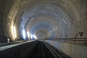 Marmaray Tunnel - One of the tunnels in 2012, one year before opening.