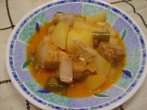 Basque cuisine - A dish of marmitako in bonito variety