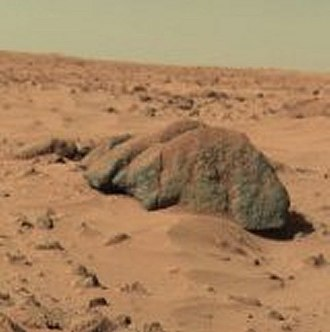 "Lunae Palus quadrangle - ""Big Joe"" rock on Mars—viewed by the Viking 1 Lander (February 11, 1978)."