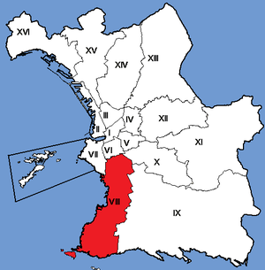8th arrondissement of Marseille - Image: Marseille Arrondissements 08