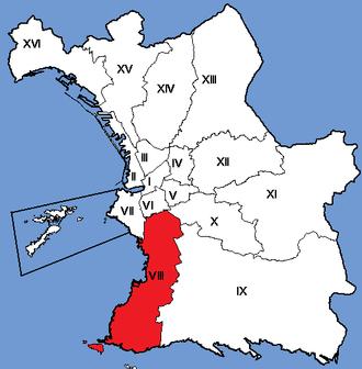 8th arrondissement of Marseille - Image: Marseille Arrondissements 08