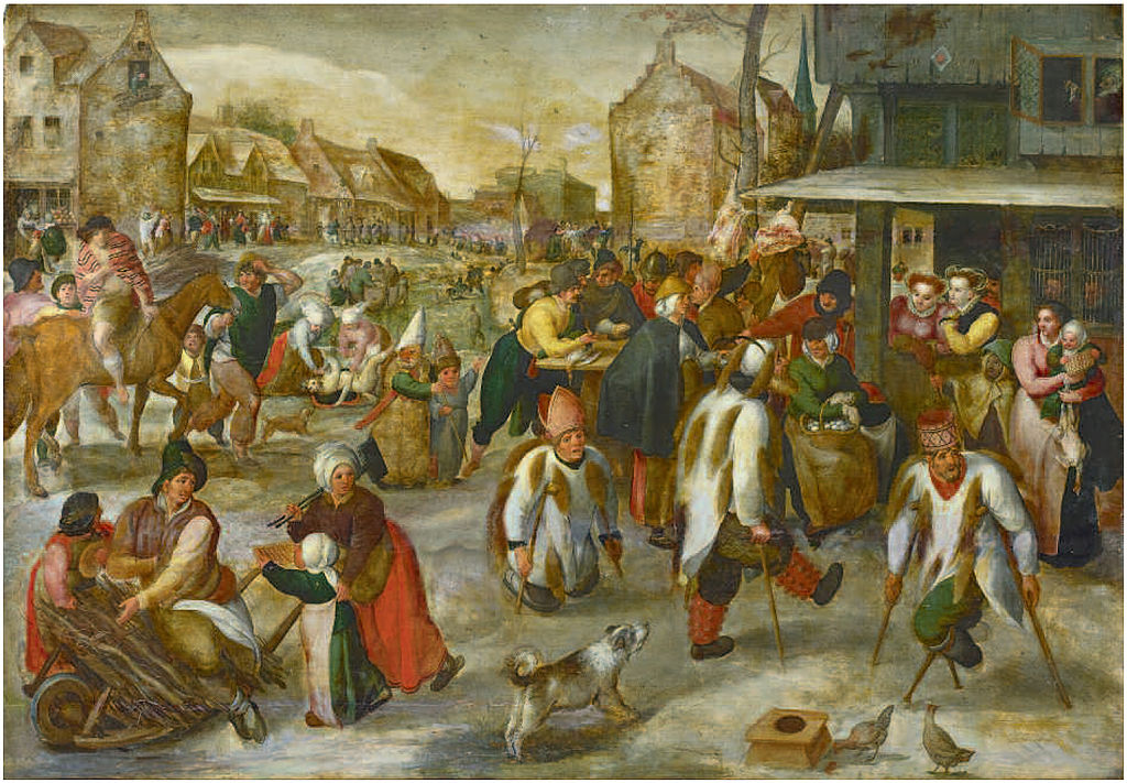 https://upload.wikimedia.org/wikipedia/commons/thumb/1/1b/Marten_van_Cleve_-_Carnival_in_a_Village_with_Beggars_Dancing.jpg/1024px-Marten_van_Cleve_-_Carnival_in_a_Village_with_Beggars_Dancing.jpg