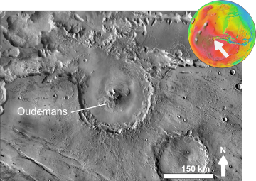 Martian impact crater Oudemans based on day THEMIS.png
