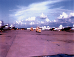 Martin B-57B Canberra bombers on the flight line at Bien Hoa Air Base in early 1965.png