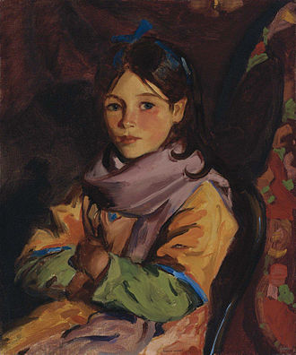 Robert Henri - Mary Agnes, one of the children of Dooagh (1924)