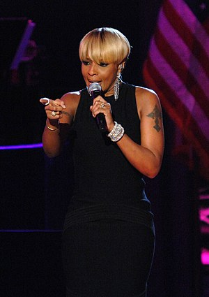 Mary J. Blige discography - Blige performing live at the Neighborhood Ball in Washington, D.C. in January 2009.