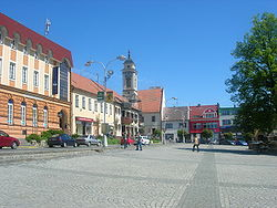 Masaryk Square in Uherský Brod