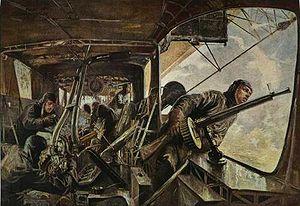 Maschinengondel eines Zeppelin-Luftschiffes - Felix Schwormstädt 1917.jpg