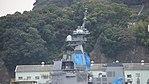 Mast of JS Shiranui(DD-120) left side view at Mitsubishi Heavy Industries Nagasaki Shipyard November 25, 2017.jpg