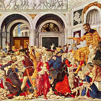 Massacre of the Innocents - The Massacre of the Innocents at Bethlehem, by Matteo di Giovanni