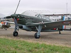 Morane-Saulnier M.S.406 - Swiss built D-3801 representing a Morane-Saulnier 406 in Rennes 2007