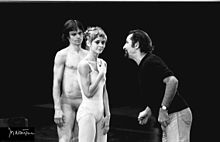 Directing dancers -Brussels 1976