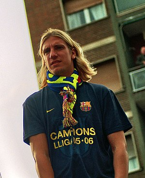 Maxi López - López with Barcelona in 2006
