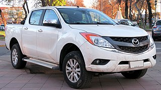 Mazda BT-50 A compact/mid-sized pickup truck produced by Mazda