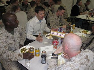 Marco Rubio - At Camp Leatherneck, Afghanistan with Floridians, January 2011