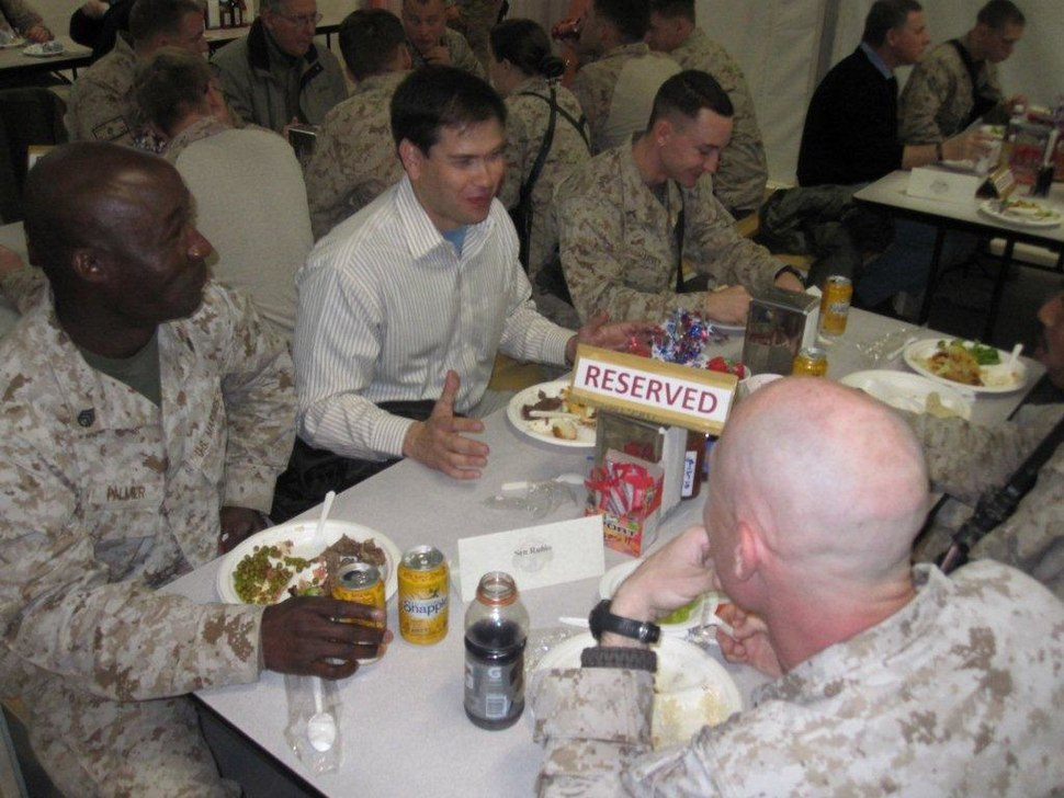 Meeting in January 2011 with Florida constituents at Camp Leatherneck, Helmand Province, Afghanistan