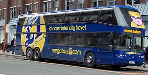 Coach transport in the United Kingdom - A Megabus double-decker