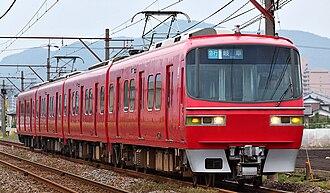 Meitetsu 1380 series - Set 1384 in June 2008