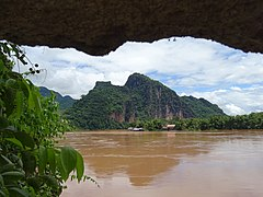 Mekong seen from the Pak Ou lower cave.jpg
