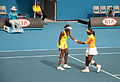Melbourne Australian Open 2010 Venus and Serena Hands.jpg