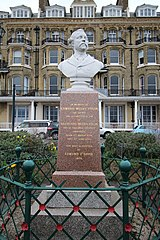 Memorial Bust And Railings To Ew Pugin, About 50 Metres South Of The Granville Hotel