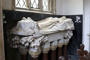 Henry Cust - Memorial to Henry John Cockayne Cust in St Peter and St Paul's Church, Belton