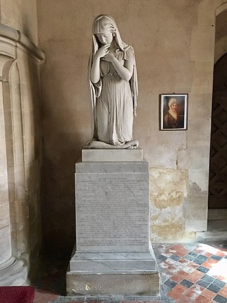 Lady Charlotte Finch - Memorial to Lady Charlotte Finch in Holy Cross Church