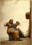 Mending the Nets by Winslow Homer, 1881.png