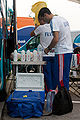 Mendrisio 2009 - Préparation des bidons équipe de France.jpg