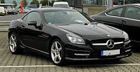Mercedes-Benz SLK 200 BlueEFFICIENCY Sport-Paket AMG (R 172) – Frontansicht, 14. August 2011, Velbert.jpg