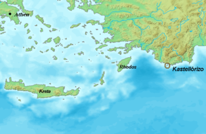 Operation Abstention - Map of the South-eastern Aegean Sea