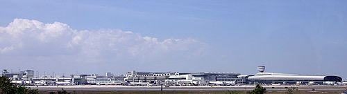 A Panoramic View of Concourses G and H, as well as the new concourse J, from the South