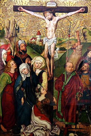 Michael Wolgemut - Image: Michael Wolgemut (Schule) Kreuzigung und Beweinung Christi c 1490